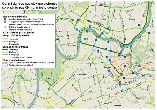 План-схема сети велосипедных
