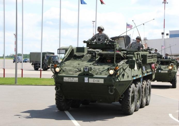 В Литву прибудет новая смена военых США с тяжелой боевой техникой