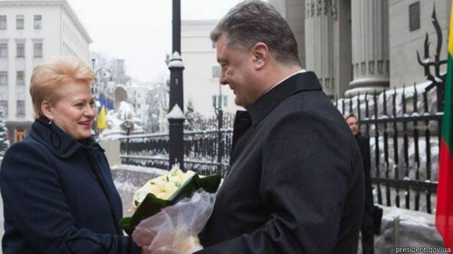 Для переговоров сПорошенко в государство Украину летит Грибаускайте