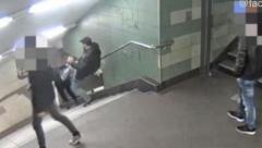 В Берлине поймали хулигана, цинично столкнувшего девушку с лестницы