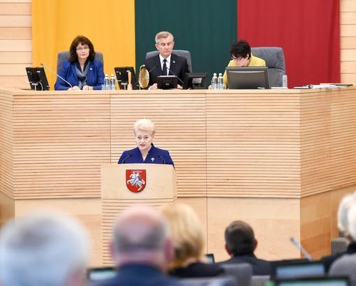 Годовой доклад Президента Литовской Республики Дали Грибаускайте