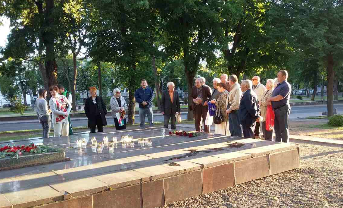 Акция «Зажги свечу памяти» - в Шяуляй