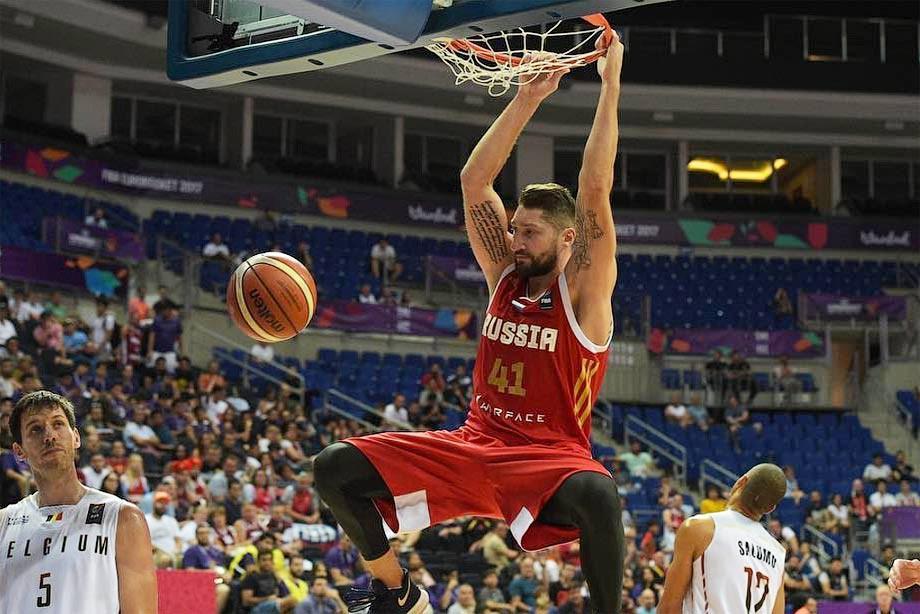 Баскетбольная сборная РФ одержала 3-ю победу нагрупповом этапе Евробаскета