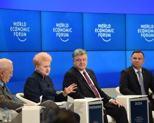 Президент Литвы в Давосе говорила о возвращении Европы