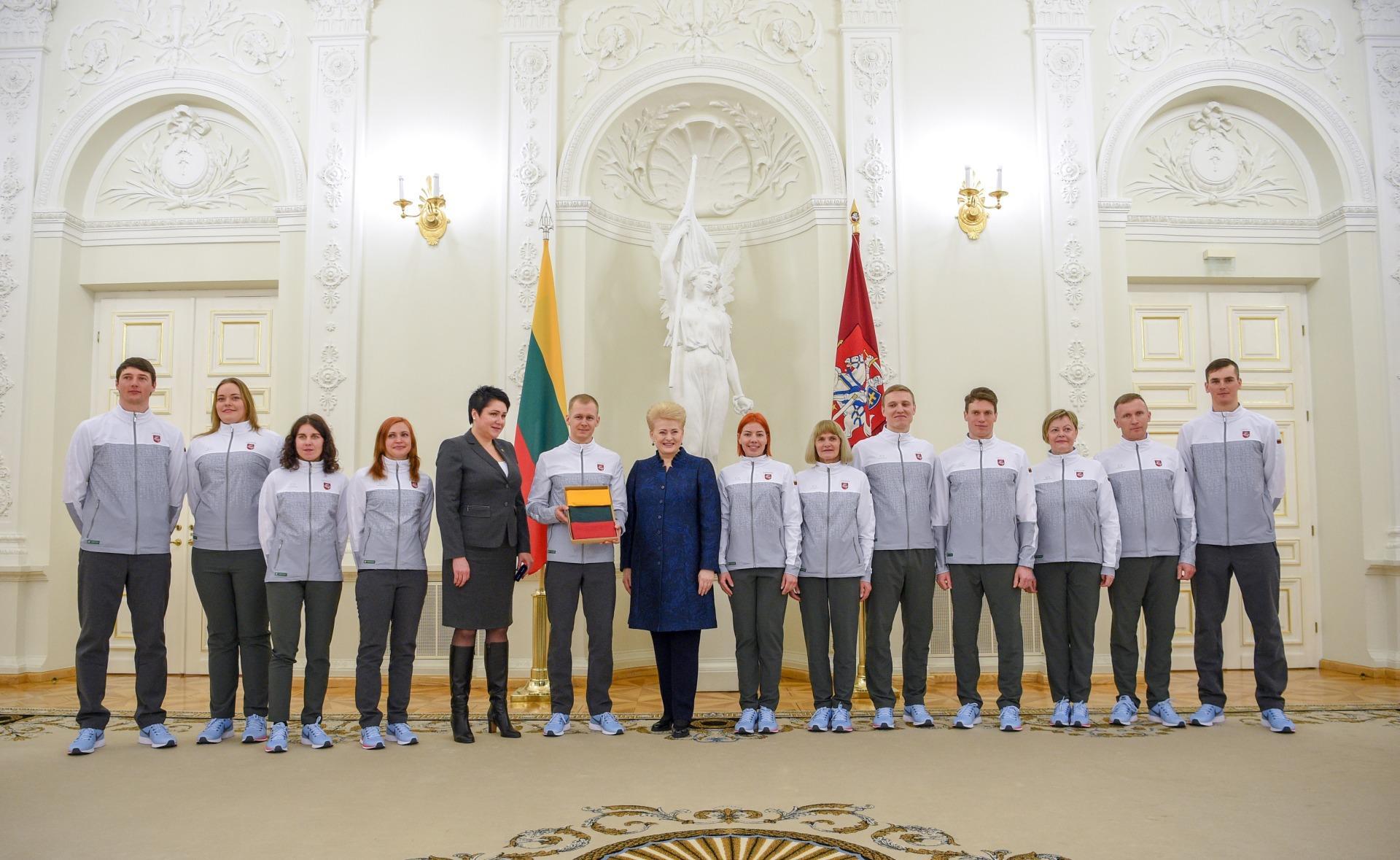 Cборную Литвы проводили на Зимнюю олимпиаду в Южной Корее