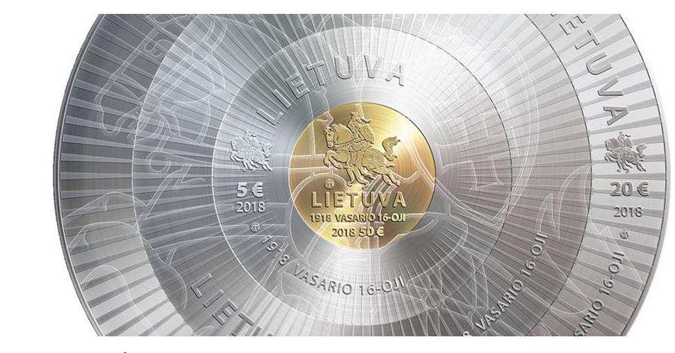 Банк Литвы выпустил монету с факсимильными подписями сигнаторов