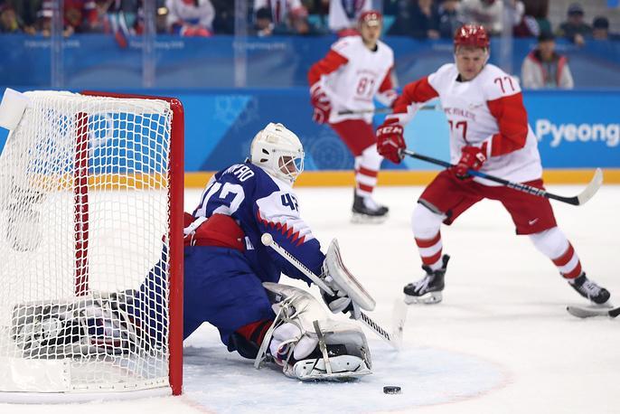 Российские хоккеисты проиграли словакам в первом матче на Олимпиаде в Пхёнчхане