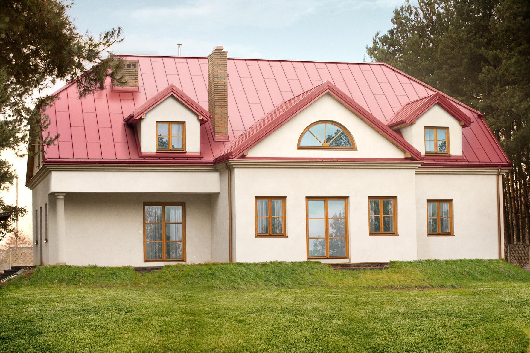 европейский дом с красной крышей фото сданы архив еще