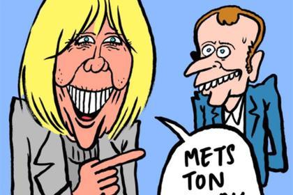 Charlie Hebdo посмеялся над кандидатом в президенты Франции и его зрелой женой