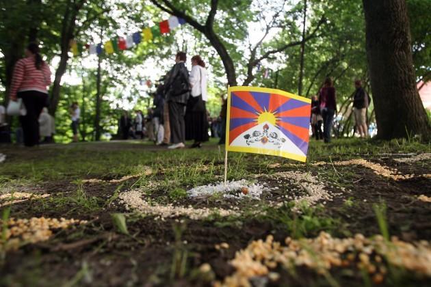 В Вильнюсском сквере Тибета будет открыта табличка на литовском и тибетском языках