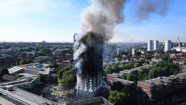Впожаре влондонском 27-этажном доме погибли люди