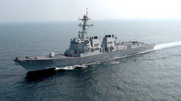 Эсминец ВМС США столкнулся с контейнеровозом у берегов Японии (видео)