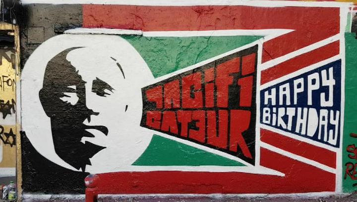 Граффити с Путиным появились в Берлине, Париже и Барселоне