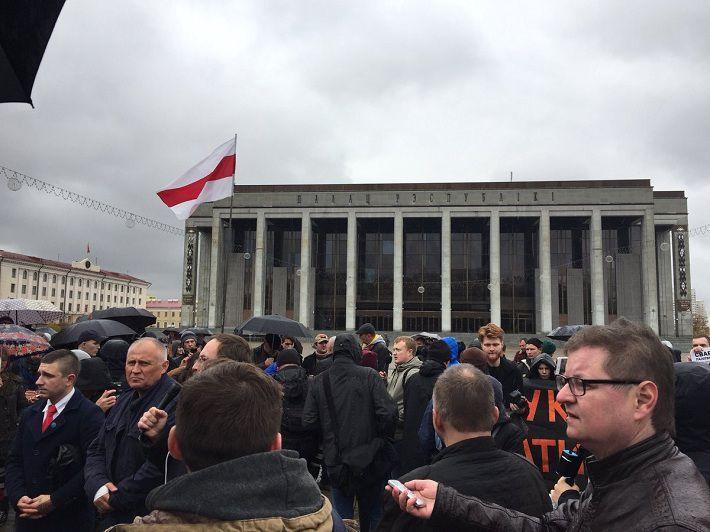ВМинске состоялась акция белорусской оппозиции
