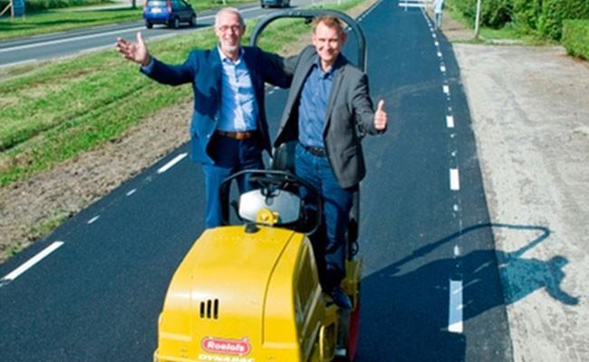 В Нидерландах построили дорогу из туалетной бумаги