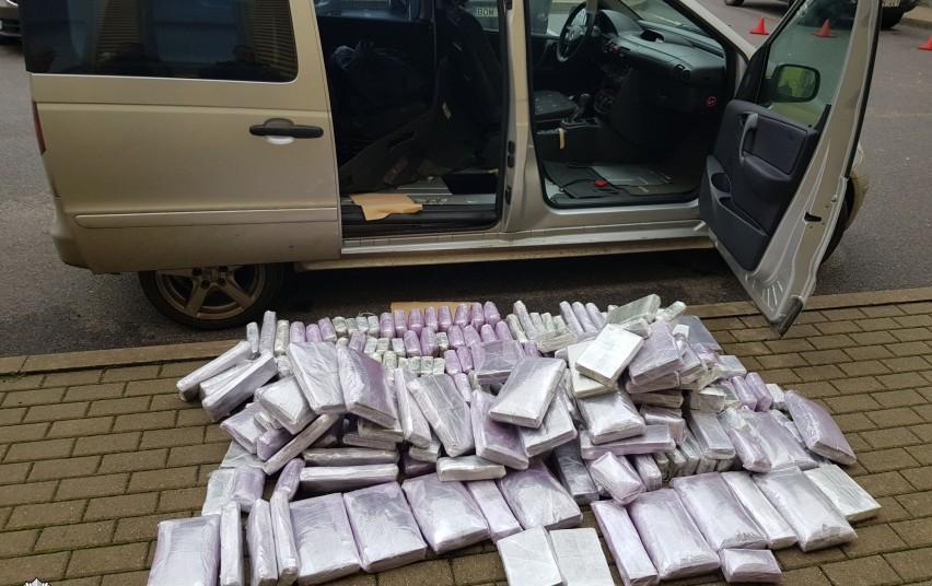 Полиция Вильнюсского округа задержала партию гашиша более чем на 2 млн. евро