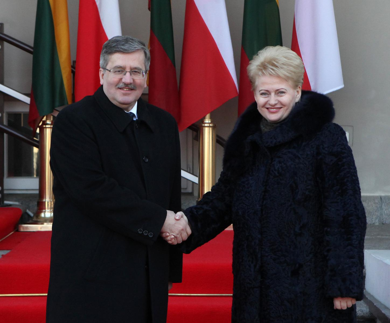 Литва и Польша должны развивать конкретное сотрудничество - Б. Коморовский