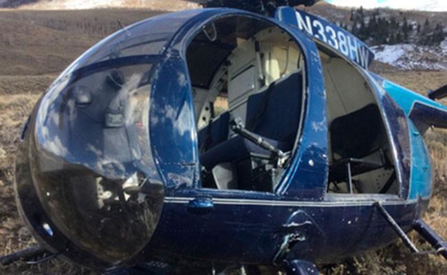 Олень в США сбил вертолет