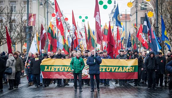 В Литве националисты устроили шествие в День восстановления независимости