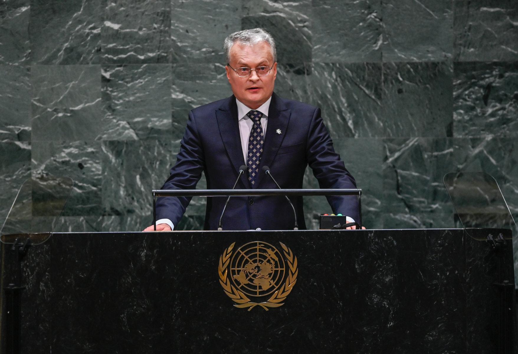 В Нью-Йорке – речь Г. Науседы в Генассамблее ООН - новости политики,  новости в мире - газета «Обзор», новости Литвы